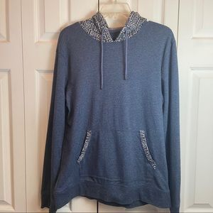 Pacsun Blue Aztec Tribal Pull Over Hoodie Mens Med